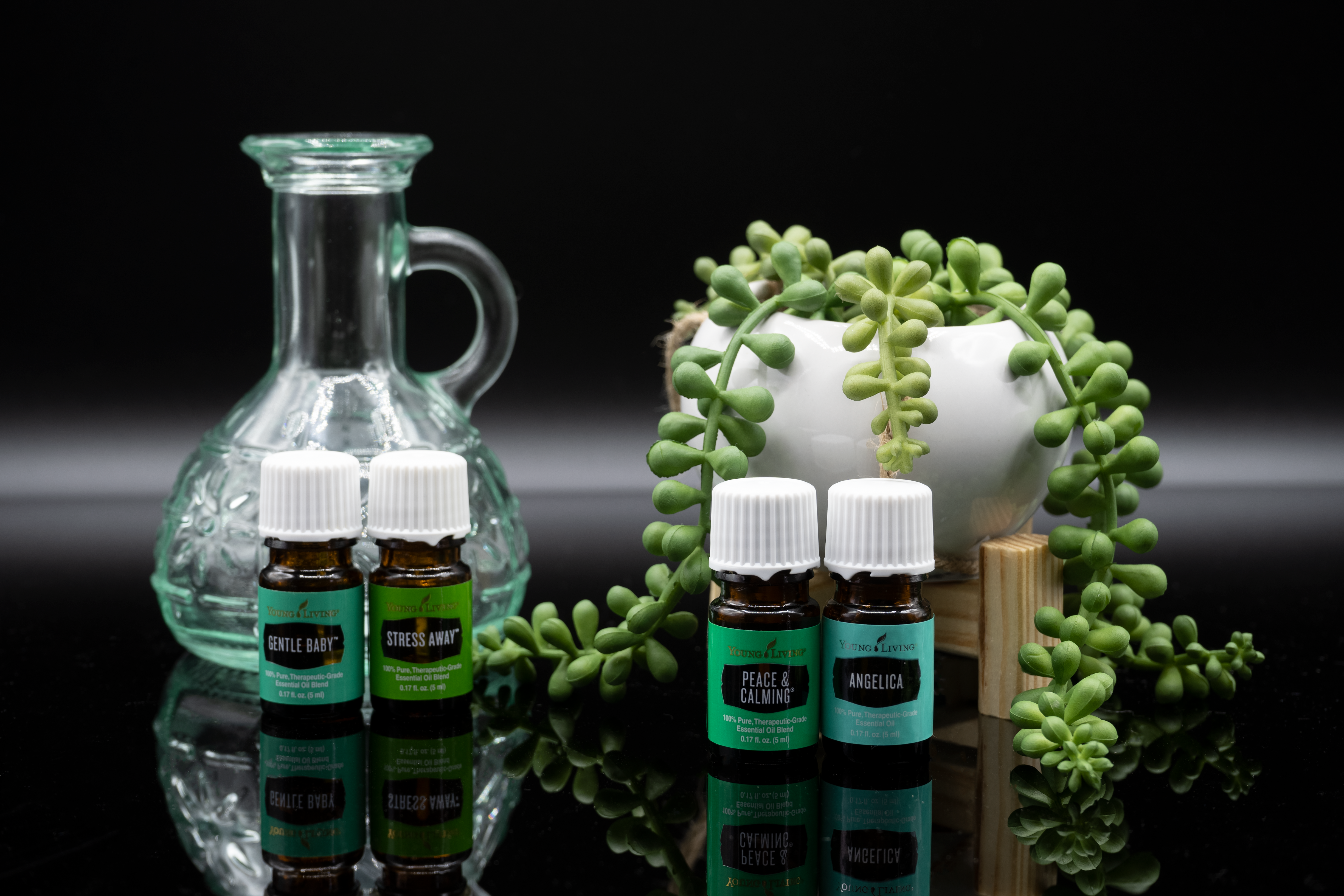 Product photography for bottled goods.