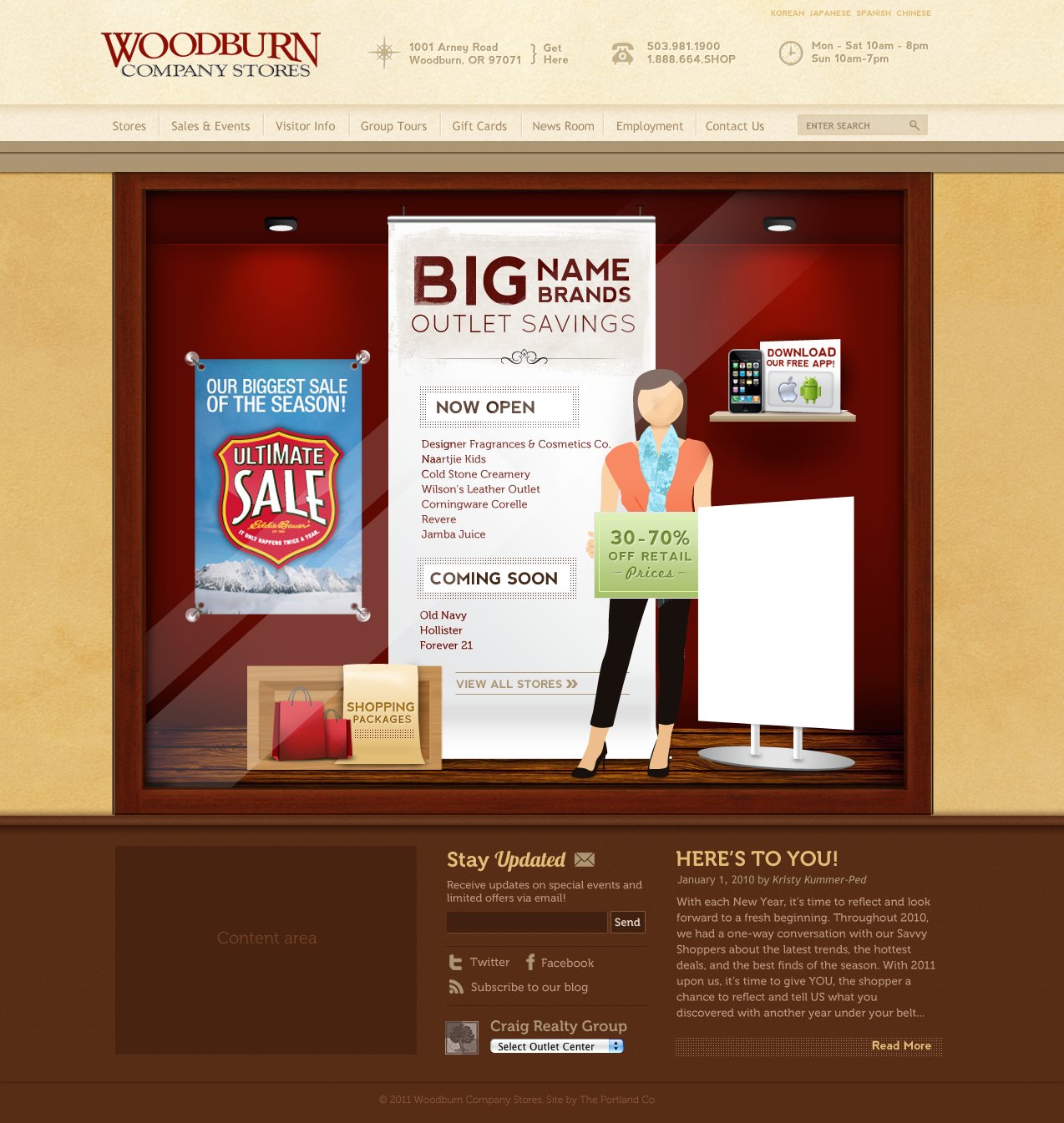 Website Design & Website Development for Woodburn Company Stores