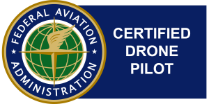 Our aerial drone team are Certified Drone Pilots under the US Federal Aviation Adminisrtation